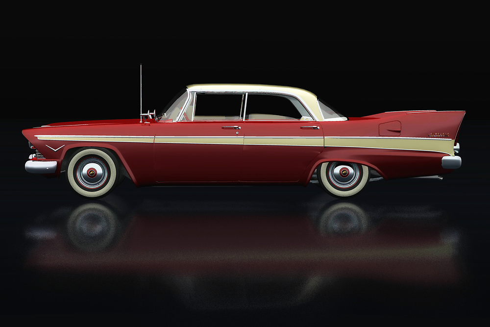The 1957 Plymouth Belvedere Sport Sedan was a sporty family car with style; the end of the 1950s was the beginning of golden times and people were looking for prestige through the choice of their cars. The 1957 Plymouth Belvedere Sport Sedan has an unprecedented design and space to cruise through the American landscape.<br /> <br /> This painting of a Plymouth Belvedere Sport Sedan from 1957 can be printed very large on different materials. -<br /> BUY THIS PRINT AT<br /> <br /> FINE ART AMERICA<br /> ENGLISH<br /> https://janke.pixels.com/featured/plymouth-belvedere-sport-lateral-view-jan-keteleer.html<br /> <br /> WADM / OH MY PRINTS<br /> DUTCH / FRENCH / GERMAN<br /> https://www.werkaandemuur.nl/nl/shopwerk/Plymouth-Belvedere-Sport-Zijaanzicht/738530/132?mediumId=11&size=75x50<br /> <br /> -