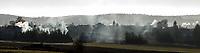 Krynki woj podlaskie, 30.12.2015 n/z zadymienie miasteczka spowodowane przez masowe uzywanie piecow opalanych drewnem i weglem fot Michal Kosc / AGENCJA WSCHOD