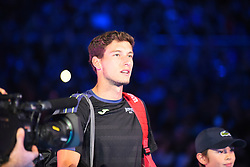 November 17, 2017 - London, England, United Kingdom - Pablo Carreno Busta of Spain makes his way out onto court before the third round robin match on day six of Nitto ATP World Tour Finals at the O2 Arena. (Credit Image: © Alberto Pezzali/NurPhoto via ZUMA Press)