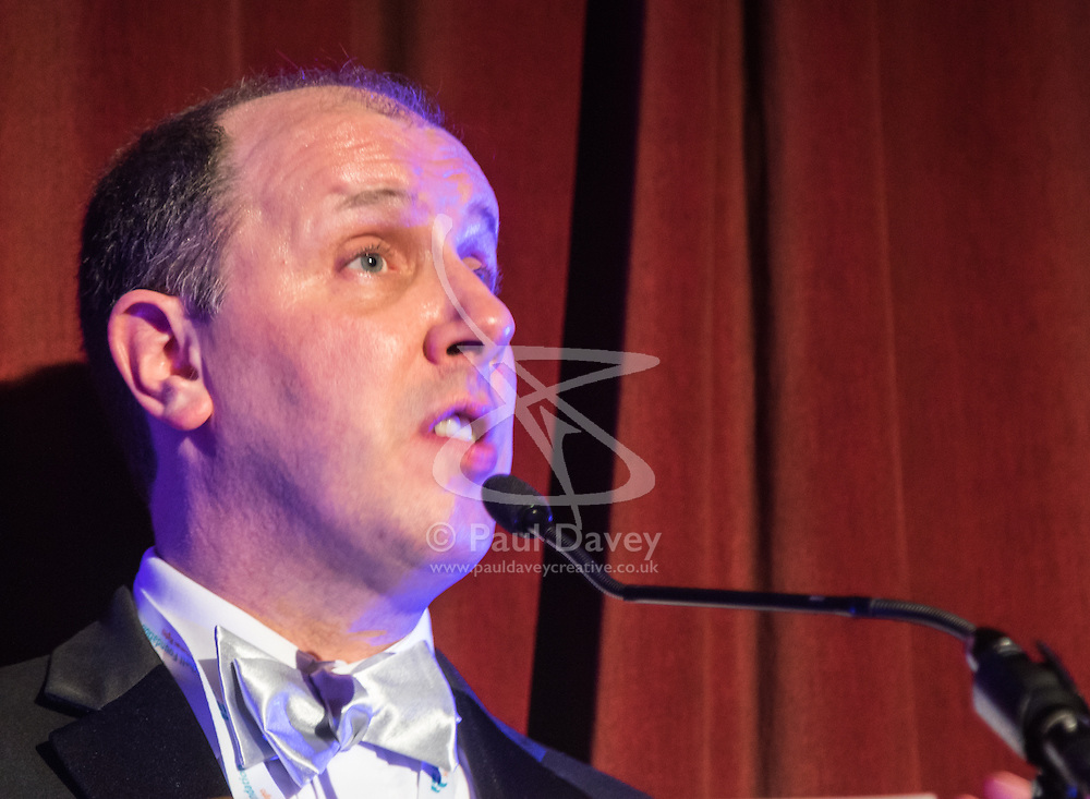 Old Town Hall, Stratford, London - 28 November 2015. Singers Marc Almond, Ronan Parke, Heather Peace and Asifa Lahore headline the Peter Tatchell Foundation's inaugural Equality Ball, a fundraiser for the foundation's LGBTI and human rights work, with guest of honour Sir Ian McKellen  joined by Michael Cashman. PICTURED: Jeremy Hooke.  //// FOR LICENCING CONTACT: paul@pauldaveycreative.co.uk TEL:+44 (0) 7966 016 296 or +44 (0) 20 8969 6875. ©2015 Paul R Davey. All rights reserved.