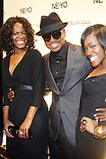 l to r: Ne-Yo, his mother and sister at Ne-Yo's 30th Birthday Party held at Cipariani's on 42 Street on October 17, 2009 in New York City