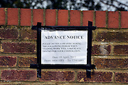 "© Licensed to London News Pictures. 07/04/2013. London, UK A sign on the wall of the embassy asking people not to park during ""loading"" on the 09th April. The North Korean Embassy in Ealing in West London today, 7th April 2013. The Embassy is based in a 1920's detached house in a residential area. Photo credit : Stephen Simpson/LNP"