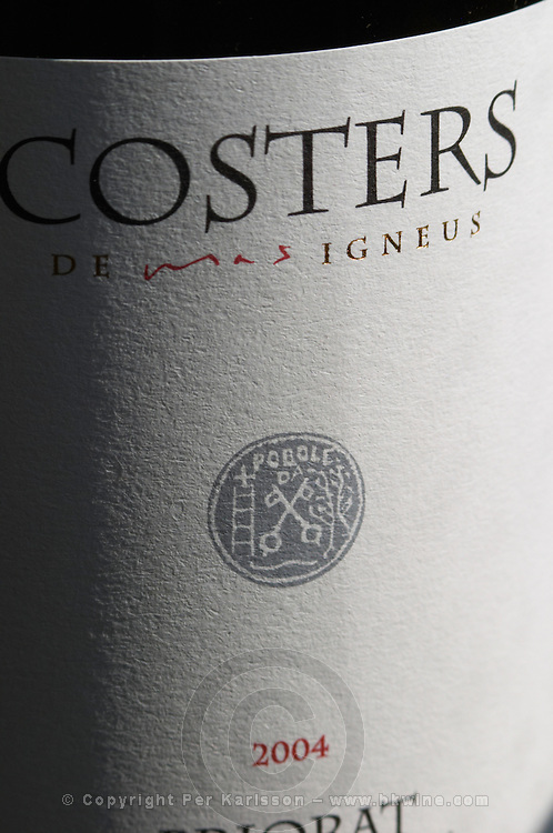 Costers 2004, label detail. Mas Igneus, Gratallops, Priorato, Catalonia, Spain.