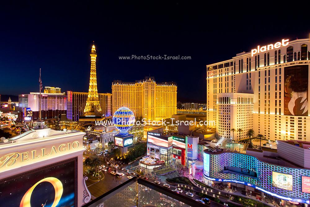 The Strip, at night Las Vegas, Nevada, USA