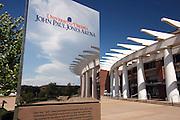 The John Paul Jones Arena (JPJ) (the jack) located at the University of Virginia in Charlottesville, VA.