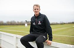 Somerset's Max Waller poses for a photo.  - Mandatory byline: Alex Davidson/JMP - 24/03/2016 - CRICKET - Taunton Vale CC - Taunton , England - Somerset v Gloucestershire -  Pre Season