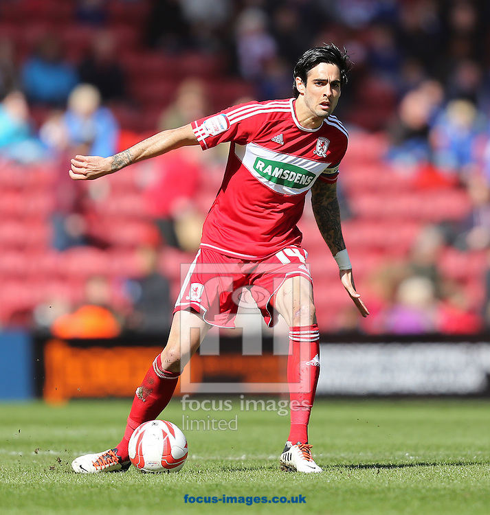 Picture by Paul Gaythorpe/Focus Images Ltd +447771 871632.27/04/2013.Rhys Williams of Middlesbrough during the npower Championship match at the Riverside Stadium, Middlesbrough.