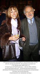 MR & MRS EDWARD GOLDSMITH he is the brother of the late Sir James Goldsmith, at a party in London on 11th December 2002.PGC 71