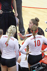 17 October 2014:  Melissa Myers during an NCAA Missouri Valley Conference (MVC) womens volleyball match between the Northern Iowa Panthers and the Illinois State Redbirds for 1st place in the conference at Redbird Arena in Normal IL