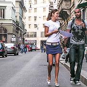 Via Montenapoleone in Milan