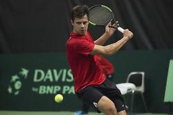 September 17, 2017 - Biel, Schweiz - Biel, 17.09.2017, Tennis, Davis Cup, Schweiz - Weissrussland, Yaraslav Shyla (BLR) (Credit Image: © EQ Images via ZUMA Press)