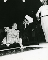 1946 Margaret O'Brien's handprint ceremony at Grauman's Chinese Theater