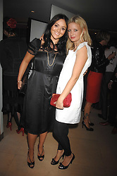 Left to right, MARTINE McCUTCHEON and LAINEY SHERIDAN-YOUNG at a dinner in aid of Eve Appeal, Gynaecology Cancer research Fund held at Nobu, The Metropolitan Hotel, Park Lane, London on 3rd September 2007.<br /><br />NON EXCLUSIVE - WORLD RIGHTS