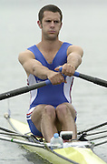 2002 FISA World Cup. Hazewinkel. BEL.       Friday  14/06/2002     .email images@Intersport-images.com.[Mandatory Credit: Peter Spurrier/Intersport Images]  .                                 /06/2002.Rowing    .LM1X GBR Nick WAKEFIELD Rowing, FISA WC.Hazenwinkel, BEL