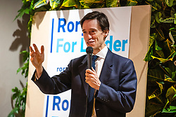 © Licensed to London News Pictures. 05/06/2019. London, UK. Conservative Party leadership contender Rory Stewart  MP speaks at a question and answer event in central London as part of his leadership campaign. Photo credit: Rob Pinney/LNP