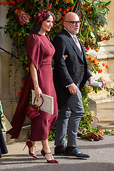 Demi Moore and Eric Buterbaugh after the wedding of Princess Eugenie to Jack Brooksbank at St George's Chapel in Windsor Castle
