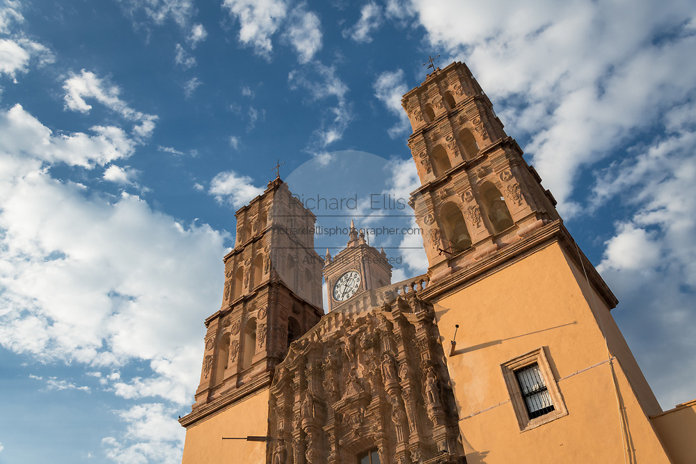 The Parroquia Nuestra Señora de Dolores Catholic Church also called the Church of our Lady of Sorrows at the Plaza Principal in Dolores Hidalgo, Guanajuato, Mexico. Miguel Hildago was a parish priest who issued the now world famous Grito - a call to arms for Mexican independence from Spain.