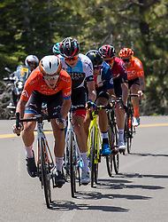 May 13, 2019 - Lake Tahoe, CA, USA - The breakaway climbs Hwy 88 in the Sierras during stage two of the Amgen Tour of California  on Monday, May 13, 2019. (Credit Image: © Paul Kitagaki Jr./ZUMA Wire)