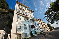 19th century wooden Ottoman stule villas of the Fatih district overlooking the Golden Horm, Istanbul Turkey .<br /> <br /> If you prefer to buy from our ALAMY PHOTO LIBRARY  Collection visit : https://www.alamy.com/portfolio/paul-williams-funkystock/istanbul.html<br /> <br /> Visit our TURKEY PHOTO COLLECTIONS for more photos to download or buy as wall art prints https://funkystock.photoshelter.com/gallery-collection/3f-Pictures-of-Turkey-Turkey-Photos-Images-Fotos/C0000U.hJWkZxAbg