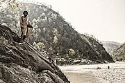 Holy man-Mahakali/Saryu confluence.