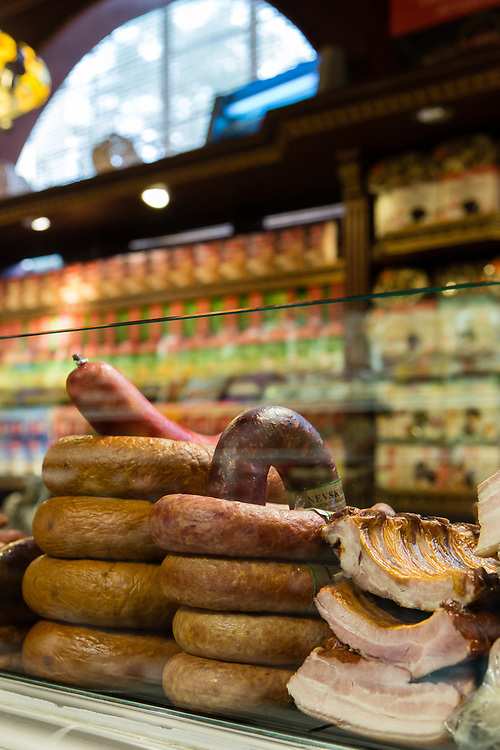 Smoked sausages and meats at CHerry Hill Gourmet.