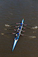 A coxed four is seen on the Yarra during the COVID-19 in Melbourne. With over a week of zero cases in Victoria, Premier Daniel Andrews is expected to make major announcements on Sunday about further easing of restrictions. (Photo by Dave Hewison/Speed Media)