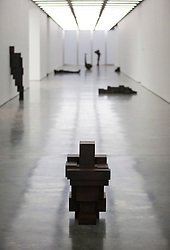 © Licensed to London News Pictures. 27/12/2012. London, UK. Sculptures by artist Anthony Gormley are seen at an exhibition of his work at the White Cube gallery in London today (27/11/12). The exhibition, entitled 'Model', runs from 28th November 2012 to 10th February 2013 at the White Cube's Bermondsey Gallery. Photo credit: Matt Cetti-Roberts/LNP
