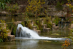 Small dam on the Guadalupe River in the Texas Hill Country