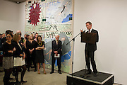 ELIZABETH GILMORE; ALAN GRIEVE; SIR NICHOLAS SEROTA, Opening reception of the Jerwood Gallery. The Stade, Hastings. 16 March 2012.