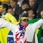 A USA fan dressed as Elvis during the Australia V USA, Pool C match during the IRB Rugby World Cup tournament. Wellington Stadium, Wellington, New Zealand, 23rd September 2011. Photo Tim Clayton....