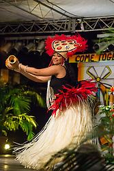 International Wear/Costume Segment.  Polynesia.  Contestant #4, Yaritza Tirado.  St. John Festival Queen: 2015.  Winston W. Wells Ball Field.  St. John, Virgin Islands.  21 June 2015.  © Aisha-Zakiya Boyd