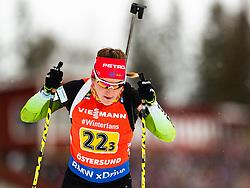 March 16, 2019 - –Stersund, Sweden - 190316 Lea Einfalt of Slovenia competes in the Women's 4x6 km Relay during the IBU World Championships Biathlon on March 16, 2019 in Östersund..Photo: Johan Axelsson / BILDBYRÃ…N / Cop 245 (Credit Image: © Johan Axelsson/Bildbyran via ZUMA Press)
