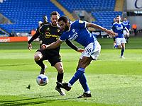 Football - 2020 / 2021 Sky Bet Championship - Cardiff City v Watford- Cardiff City Stadium<br /> <br /> <br /> Curtis Nelson Cardiff & Philip Zinckernagel Watford<br /> <br /> COLORSPORT/WINSTON BYNORTH
