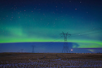February 28, 2015 - The Northern Lights lit up the sky in Calgary and were clearly visible to the naked eye. It was a beautiful show!<br /> <br /> ©2015, Sean Phillips<br /> http://www.RiverwoodPhotography.com