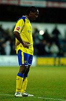 Photo: Daniel Hambury.<br />Queens Park Rangers v Cardiff City. Coca Cola Championship. 28/12/2005.<br />Cardiff's Cameron Jerome looks gutted at the end of the game.