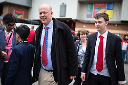 © Licensed to London News Pictures . 17/05/2015 .  Old Trafford , Manchester , UK . Leader of the House of Commons , CHRIS GRAYLING , at the match . Manchester Utd vs Arsenal at Old Trafford Football Stadium , Manchester . Photo credit : Joel Goodman/LNP