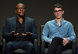 BEVERLY HILLS - AUGUST 8: Co-Creator/Co-Writer/Executive Producer Lee Daniels and Co-Creator/Co-Writer/Executive Producer Tom Donaghy onstage during the panel for 'STAR' at the FOX portion of the 2017 Summer TCA press tour at the Beverly Hilton on August 8, 2017 in Beverly Hills, California. (Photo by Frank Micelotta/Fox/PictureGroup) *** Please Use Credit from Credit Field ***