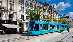 A tram in the Ruse de Vesle, Reims, France<br /> <br /> (c) Andrew Wilson | Edinburgh Elite media