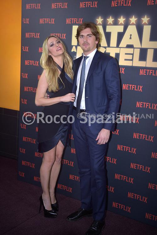Marina Stella and Andrea Manfredonia PHOTOCALL<br /> del film NATALE A 5 STELLE di  MARCO RISI. 7 dicembre 2018