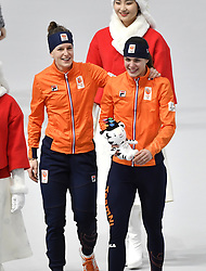 12-02-2018 SCHAATSEN: OLYMPISCHE SPELEN: OLYMPIC GAMES: PYEONGCHANG 2018<br /> Ireen Wust en Marrit Leenstra <br /> <br /> Foto: Soenar Chamid