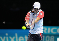 Japan's Kei Nishikori during the Semi Final of Barclays ATP World Tour 2014 between Serbia's Novak Djokovic and Japan's Kei Nishikori, O2 Arena, London, United Kingdom on 15th November 2014 © Pro Sports Images