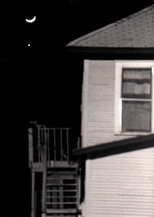 Crescent Moon Over Wilson Street, Wilson Street Cottages, 1988, Austin, Texas