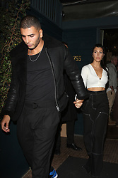 Kourtney Kardashian and Younes Bendjima walk hand in hand out of Le petit Restaurant after celebrating Kendall Jenner's 22nd Birthday Party in West Hollywood. 03 Nov 2017 Pictured: Kourtney Kardashian and Younes Bendjima. Photo credit: MEGA TheMegaAgency.com +1 888 505 6342