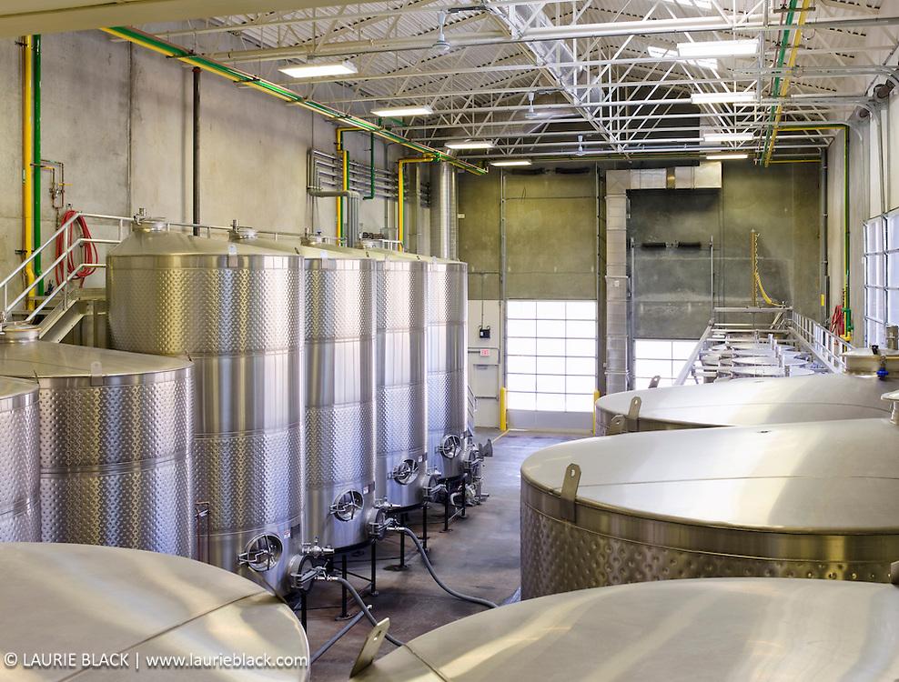 Winery gravity feed tanks