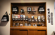 MONTGOMERY, AL -- 5/25/17 -- The Civil Rights Memorial Center is located in the former headquarters of the Southern Poverty Law Center. Dedicated to telling the story of the Civil Rights Movement, the museum sees 40,000 visitors a year. A range of items are for sale in the gift shop, including a postcard featuring SPLC co-founder Morris Dees standing at the memorial.<br /> Civil Rights attorney Morris Dees co-founded the Southern Poverty Law Center in 1971. The group has taken on the Ku Klux Klan and fought for against hate for decades, but is now facing criticism that it has labeled some groups without just cause..…by André Chung #_AC20051