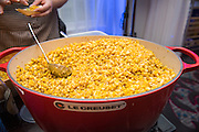 CORN (VEGETABLE), Zea mays Showcase: Chilean Choclo breeding population<br />Breeder: Bill Tracy, University of Wisconsin<br />Chef: Maya Lovelace, Mae<br />Dish: Warm butter braised choclo corn, green tomato & pickled pepper salad, choclo pudding, sumac roasted pecans