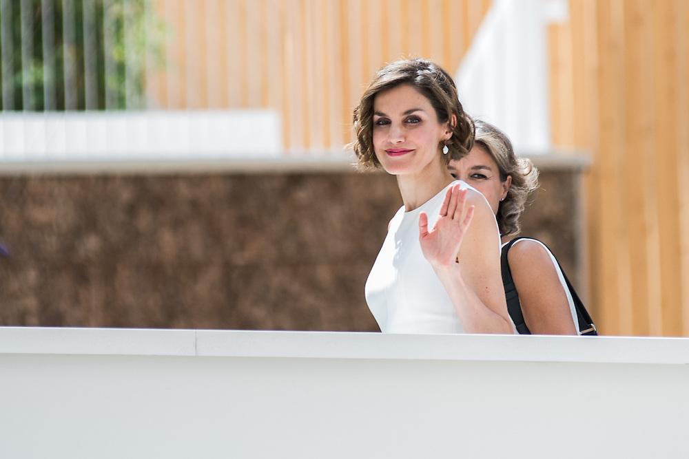 Foto Piero Cruciatti / LaPresse<br /> 23-07-2015 Milano, Italia<br /> Cronaca<br /> Visita privata di Sua Maesta la Regina di Spagna Doña Letizia Ortiz Rocasolano<br /> Nella Foto: , Doña Letizia Ortiz Rocasolano<br /> Photo Piero Cruciatti / LaPresse<br /> 23-07-2015 Milan, Italy<br /> News<br /> Private Visit of Her Majesty the Queen of Spain Doña Letizia Ortiz Rocasolano as a FAO Ambassador<br /> In the Photo: Doña Letizia Ortiz Rocasolano