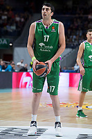 Unicaja Giorgi Shermadini during Turkish Airlines Euroleague match between Real Madrid and Unicaja at Wizink Center in Madrid, Spain. November 16, 2017. (ALTERPHOTOS/Borja B.Hojas)
