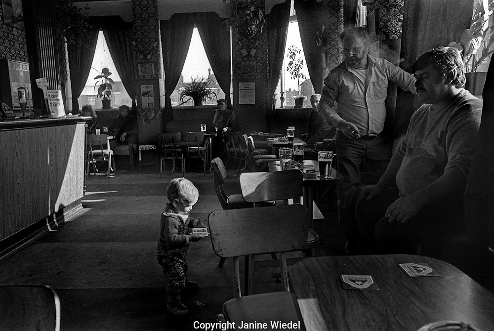 Depressed and unemployed town of Shildon in Co. Durham in the 1980s