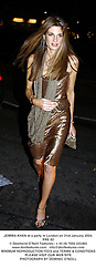 JEMIMA KHAN at a party in London on 31st January 2004.PRE 82